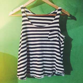 Navy Blue Stripes