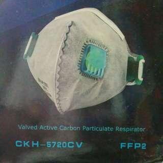 Face Mask Valved Active Carbon Respirator