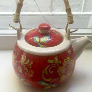 T2 Porcelain Tea Pot And Cups