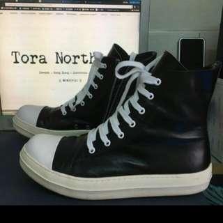 Rick Owens 高統厚底真皮靴 (只有一雙) Made In Korea