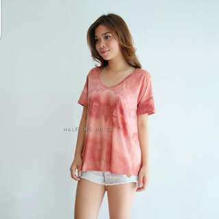 Tie-dyed Long Back Basic Tee