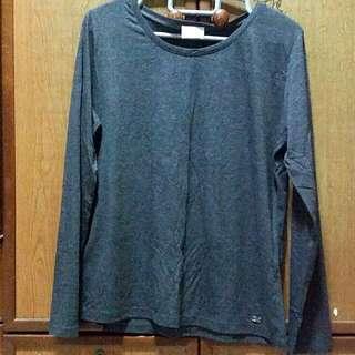 Grey Long Sleeve Basic Top