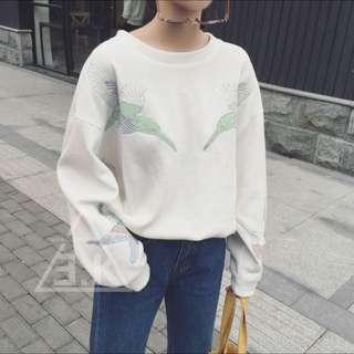 燕子刺繡衛衣