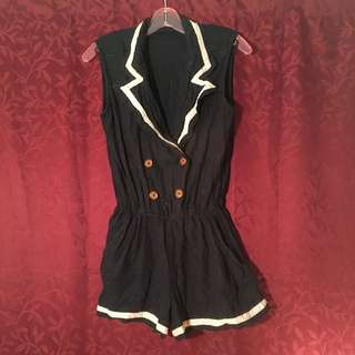 Sailor Style Playsuit/One Piece