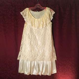 Off White Lacey Nightie/Camisole
