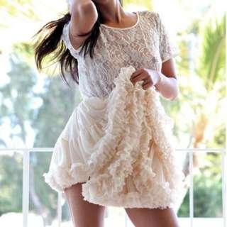 American Apparel Multi-layered Reversible Petticoat (Nude/Ballet Pink)