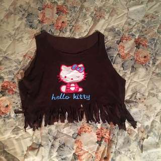 Cute Brown Hello Kitty Tank