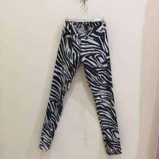 H&M Zebra Jeans