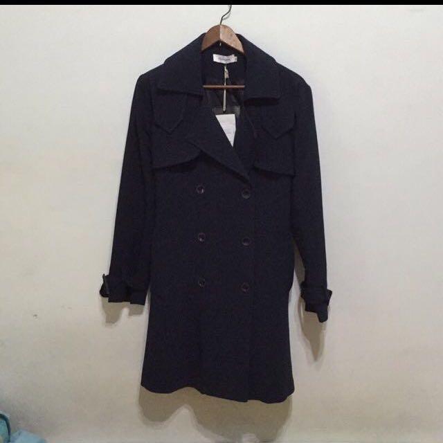 正韓風衣外套(深藍色)