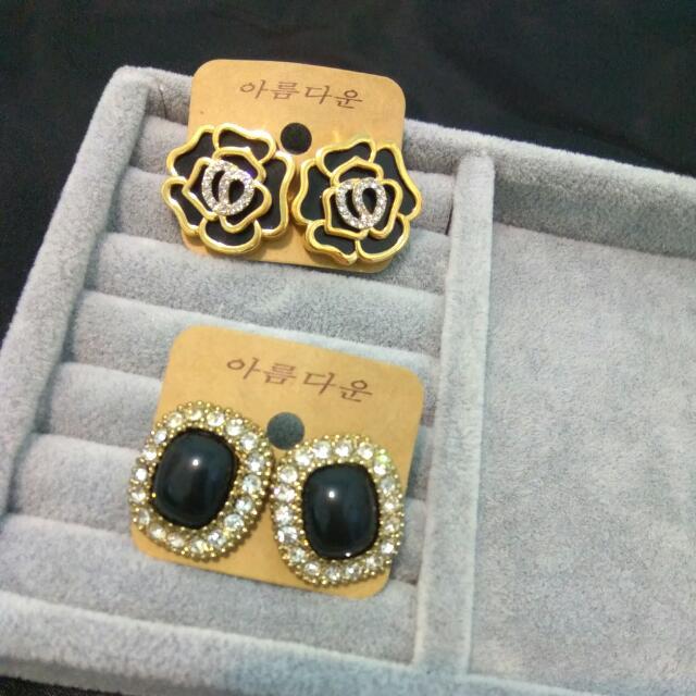 韓系。耳環