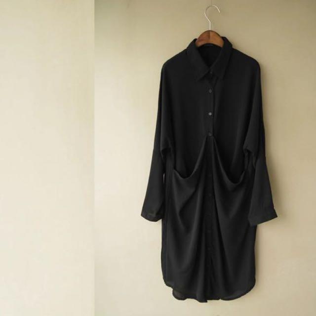 歐美街頭暗黑系大口袋長襯衫✖️下標賣場
