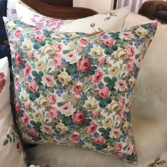 歐洲傢飾進口布料 抱枕 英國花