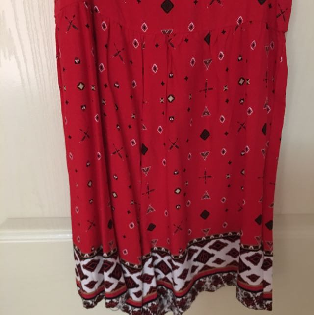 A Cute Red Playsuit