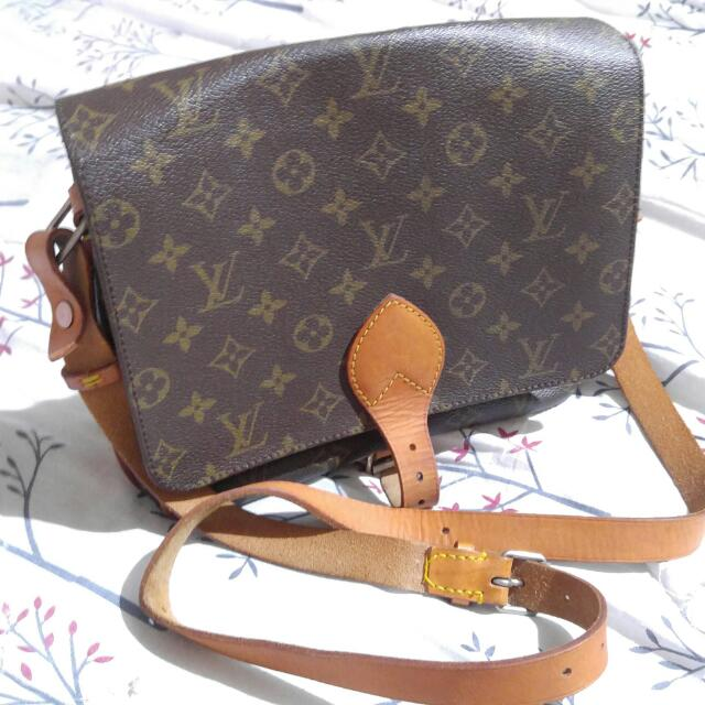 Auth Lv Cartochierre Sling Bag Gm