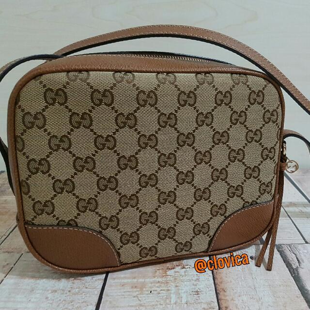 [Authentic] Gucci Shoulder Bag Canvas