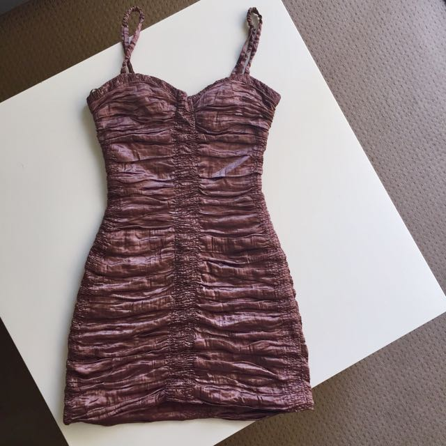 BCBG Metallic Mini Dress