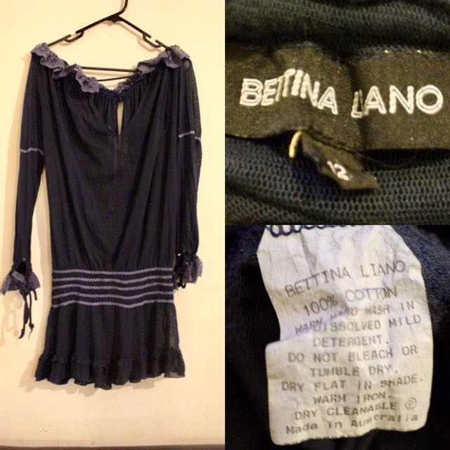 BETTINA LIANO Deep Navy Bohemian Dress