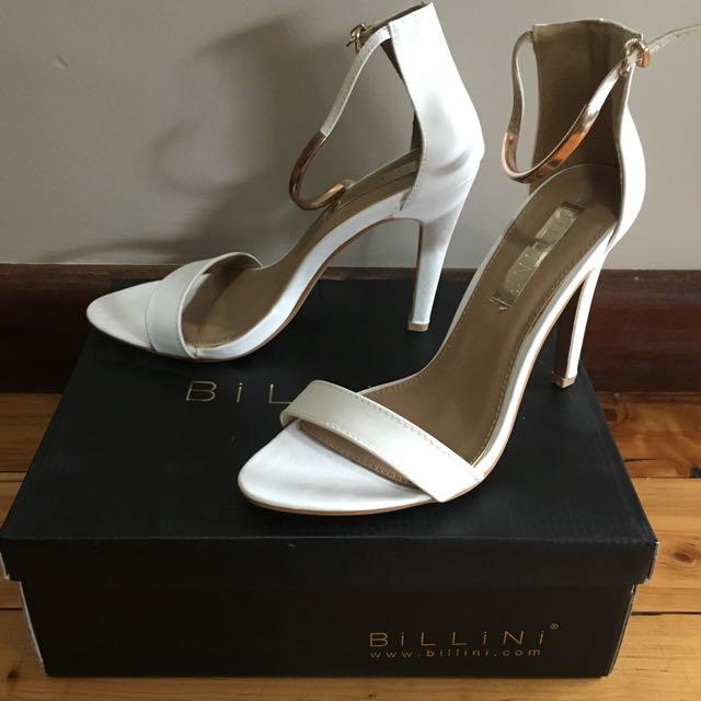 Billini Oriana White Heels