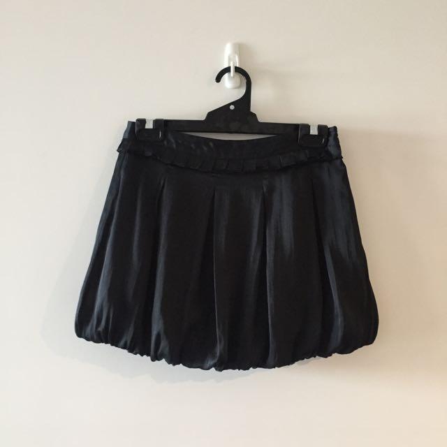 Black Balloon Skirt - Size S