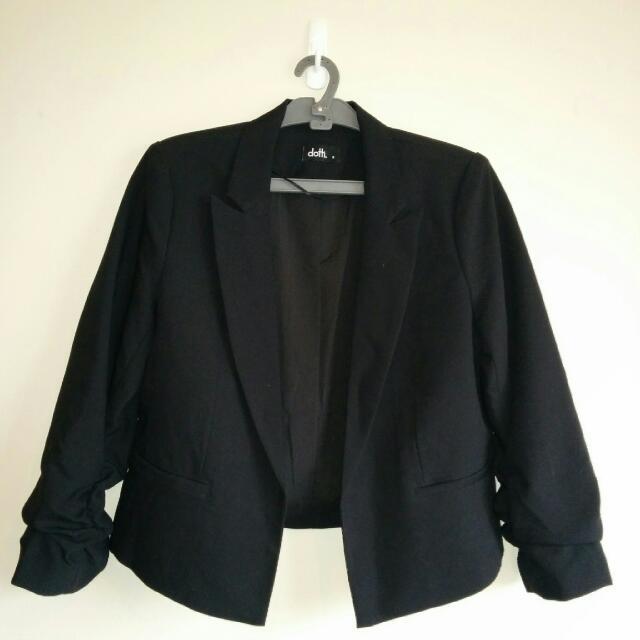Black Cropped Jacket Size 8