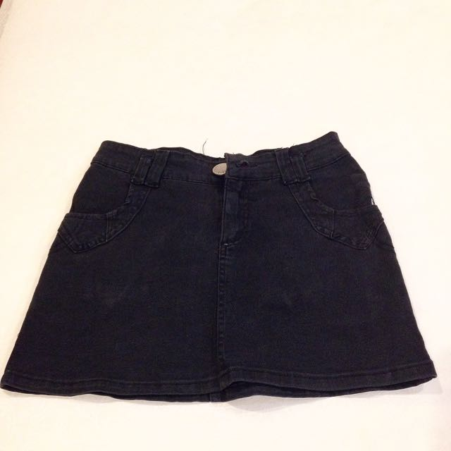 Black Jeans Skirt
