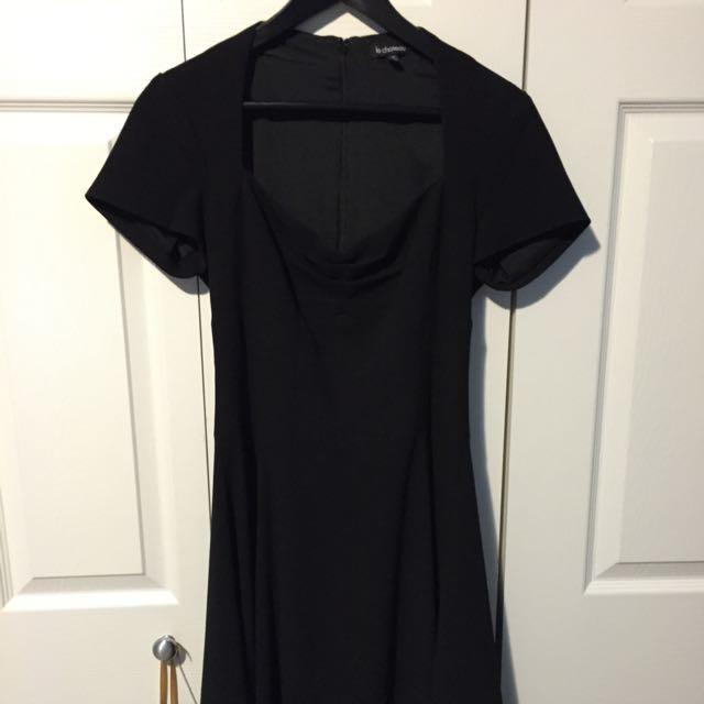 Black Retro Sweetheart Neckline Cocktail Dress