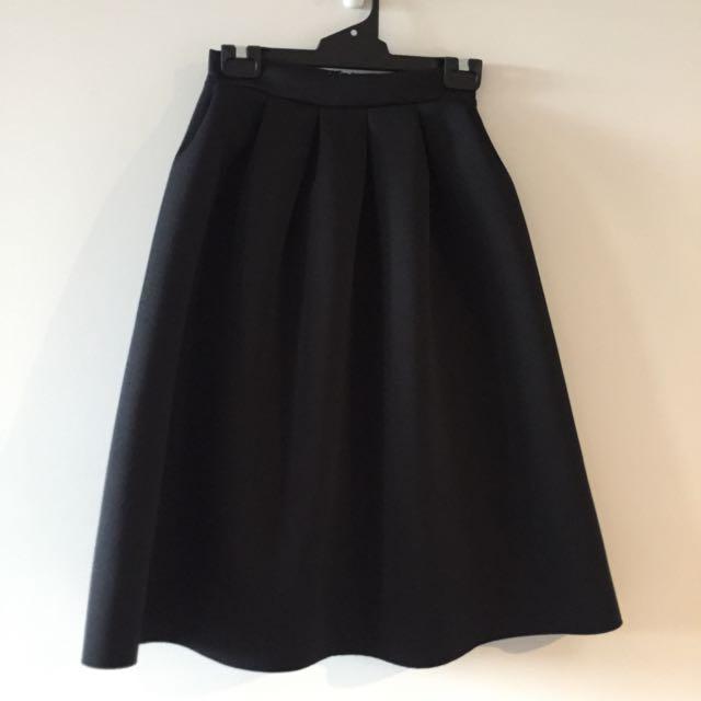 Black Skirt - Cover Knees - Size 6