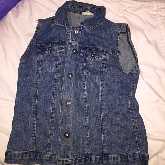 Blue Denim Size 10 Vest