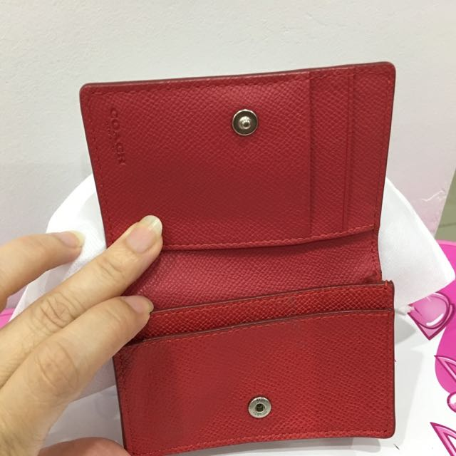 Brand new authentic coach name card business card holder luxury brand new authentic coach name card business card holder luxury bags wallets on carousell colourmoves