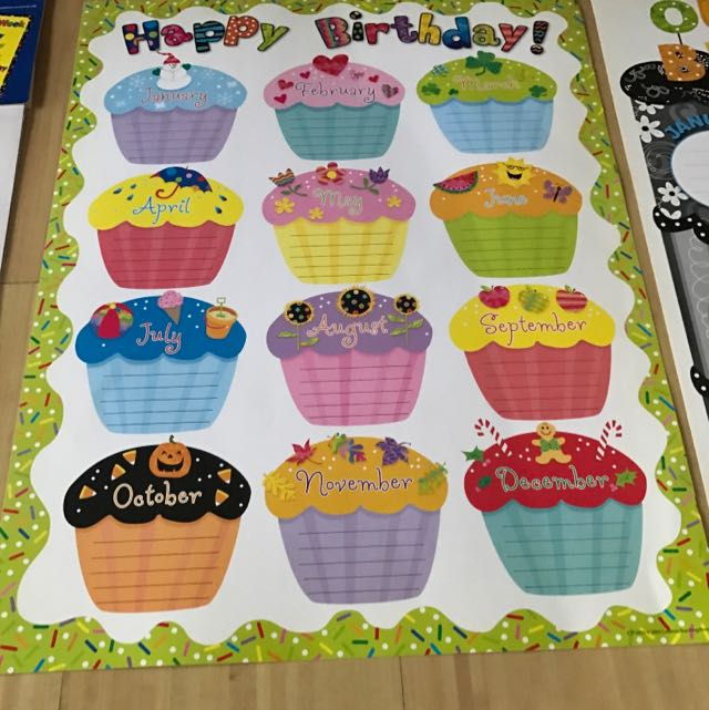Brand New Birthday Chart For Preschool Educator On Carousell