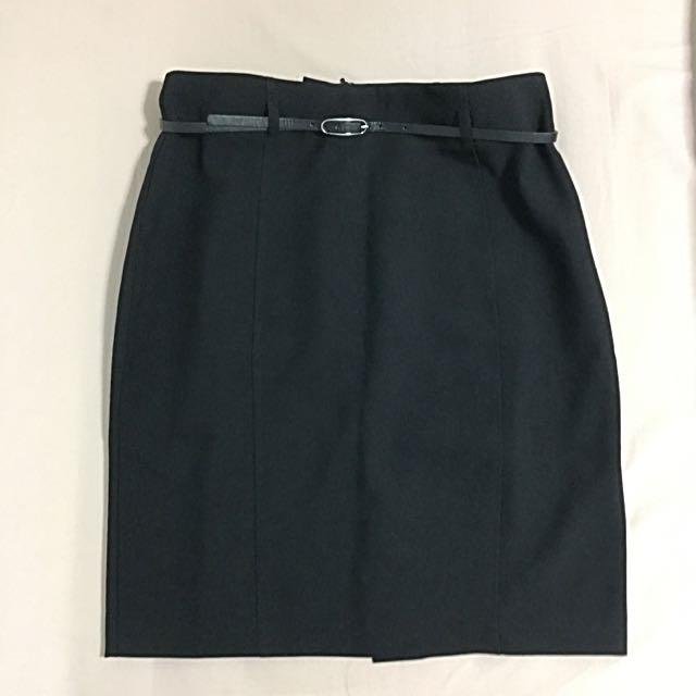 Business Skirt With Belt