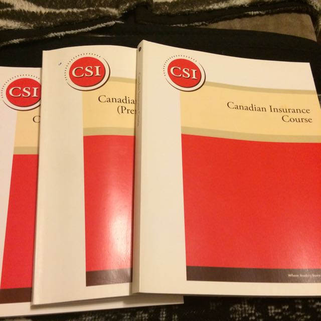Canadian Insurance Course Books