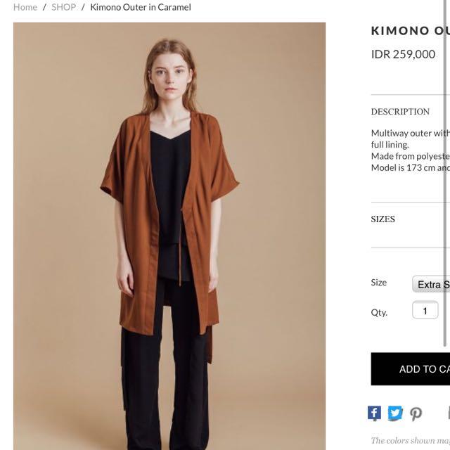 Cloth Inc Caramel Kimono