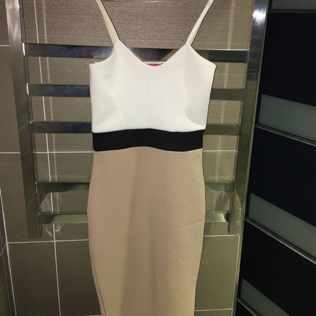 Colour Contrast Bodycon Dress