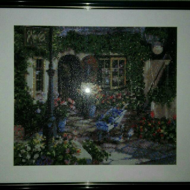 Cross Stitch framed - Home