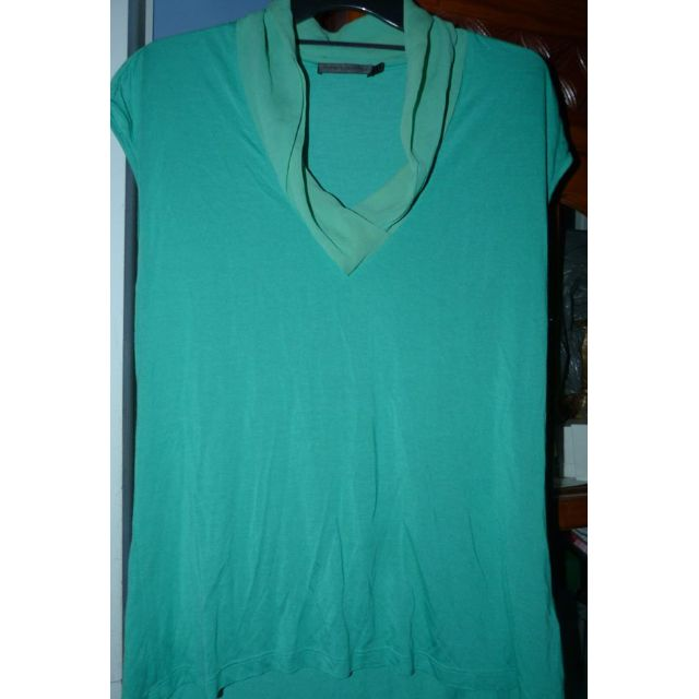 David Lawrence green with Silk trim top euc Large