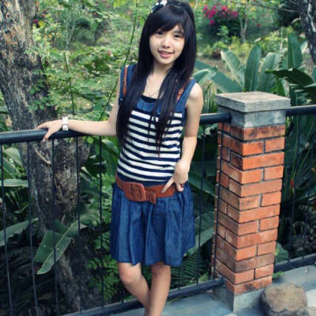 Dress stripe jeans