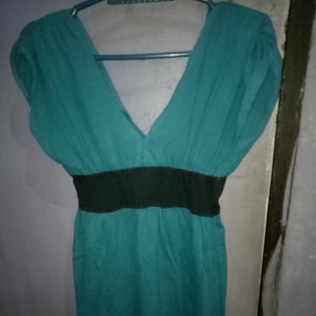 Fab Sexy Blue Smart Casual Dress