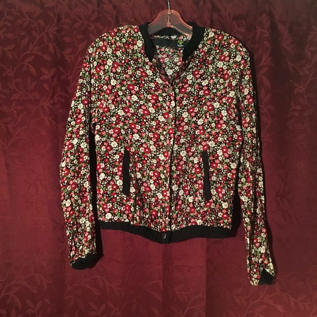Floral Factorie Bomber Style Jacket