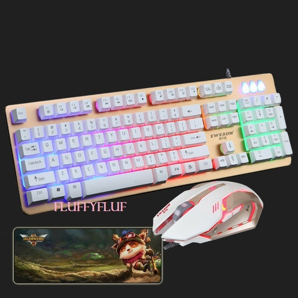 [FM Series] Mechanical Back-lit Gaming Keyboard + Mouse + Mouse Pad
