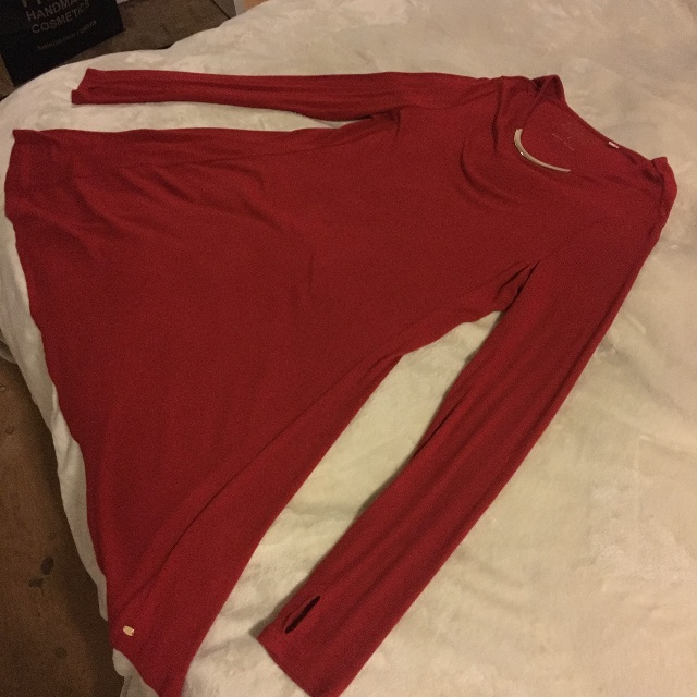 Guess Red Dress with Metal Collar Detail