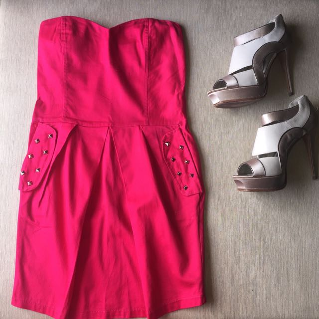 Heart Shaped Dress With Studs