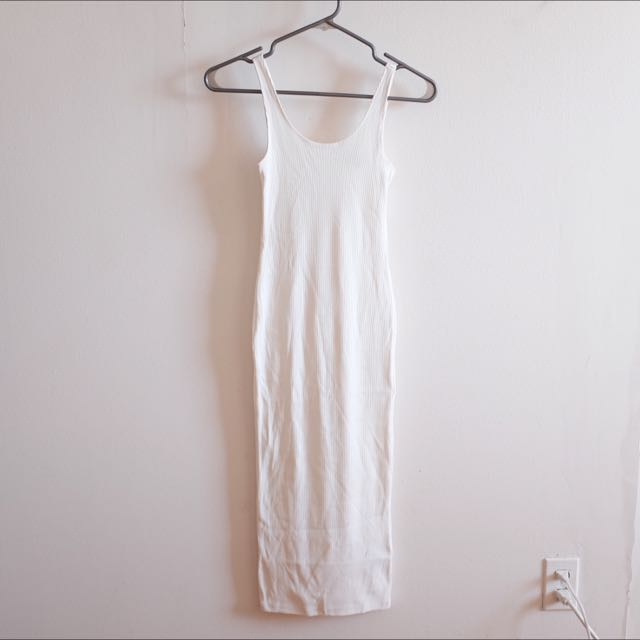 H&M Long White Dress