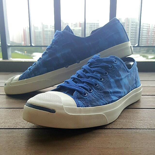 219964ab481d US11) Jack Purcell Blue Camo Converse Sneakers (OX BLUE)