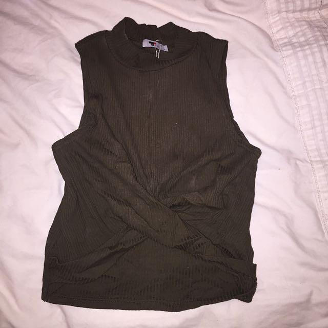 Khaki Short Top, Size 10-12