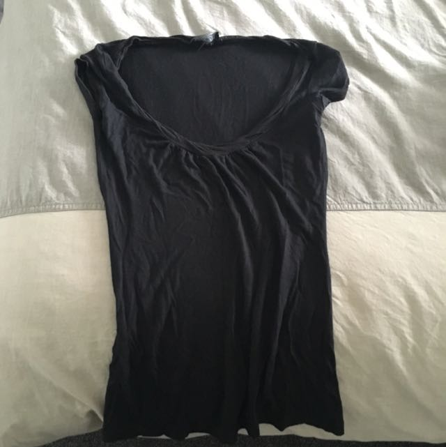 Kookai Round Neck Cap Sleeve Top