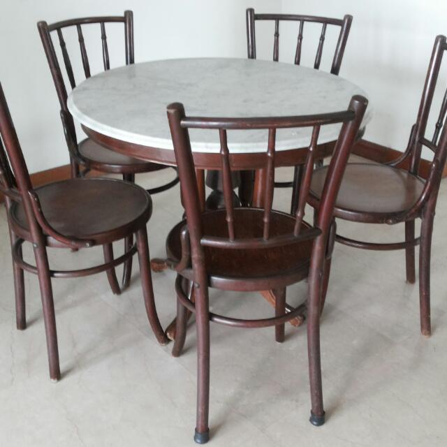 photo photo ... & Kopitiam Dining Table u0026 Chairs Vintage Antique Furniture Tables ...