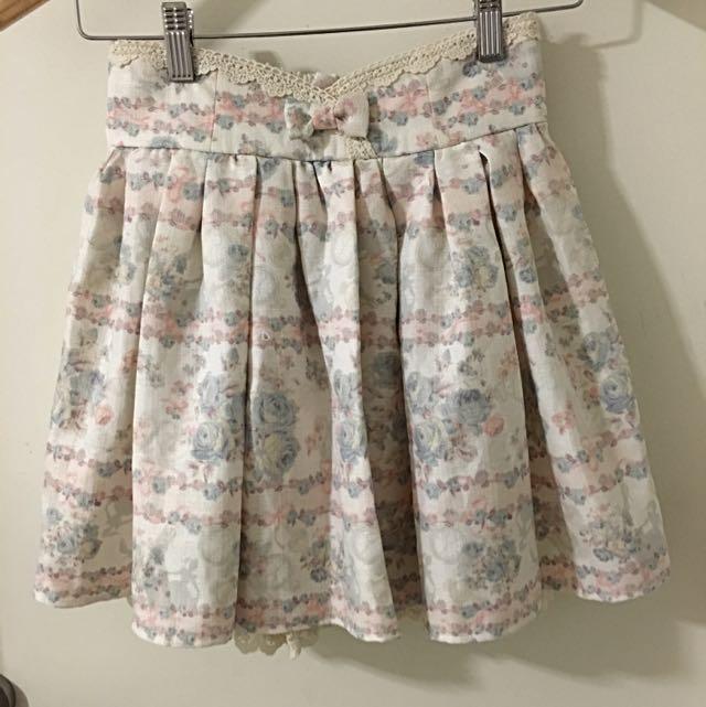 Liz Lisa Floral Print Skirt