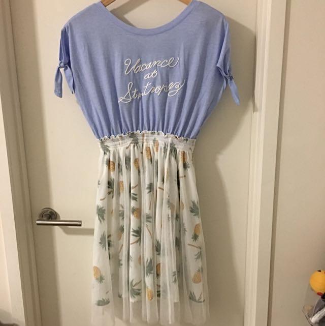 Liz Lisa Summer Mid-dress Pineapple Print
