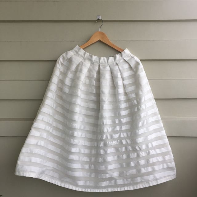 Martina White Skirt